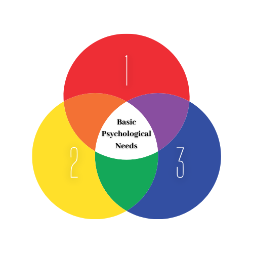 Original Image of Triple Venn Diagram Illustrating the three components of Self-Determination Theory